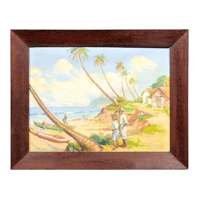 Island Landscape Oil Painting - Image 1 of 6