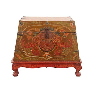 Hand-Painted Tibetan-Style Trunk