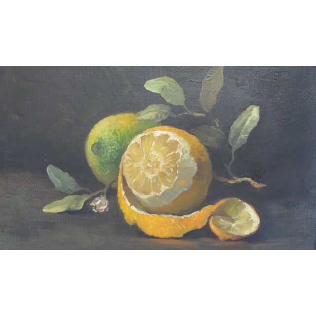 Lemon Still Life Original Oil by Hansen - Image 2 of 10