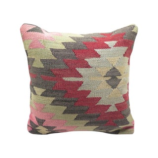 """Turkish Kilim Pillow Cover - 16"""" X 16"""" Removable"""