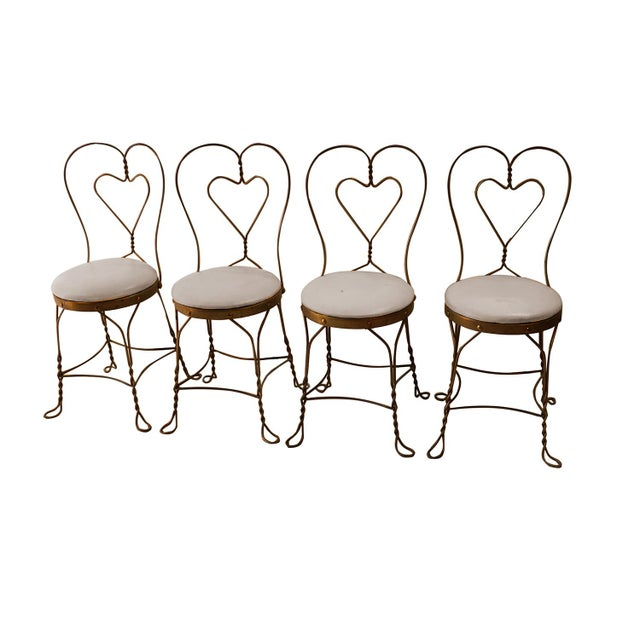 Vintage Wrought Iron Ice Cream Parlor Set - Image 4 of 10