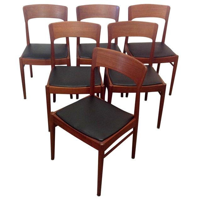 Danish Mid Century Teak Dining Room Chairs S 6 Chairish