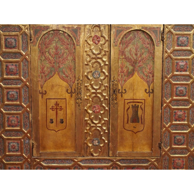 Italian Polychrome Two Door Cabinet - Image 4 of 11