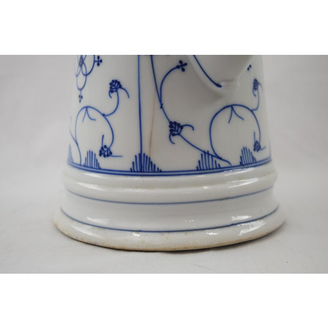 Image of Meissen Blue & White Porcelain Coffee Pot