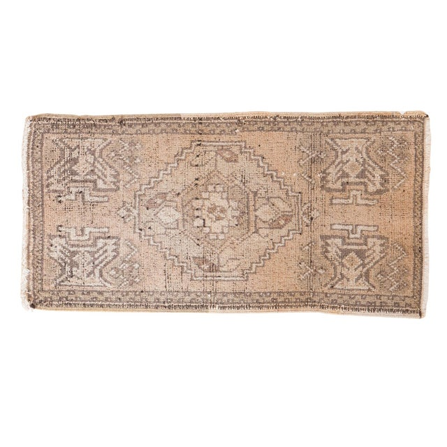 "Distressed Oushak Rug Mat - 1'8"" X 3'2"" - Image 1 of 7"