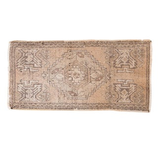 "Distressed Oushak Rug Mat - 1'8"" X 3'2"""