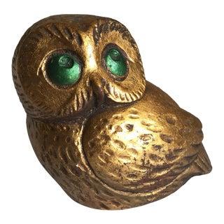Vintage Artisan Owl Figurine, 1974