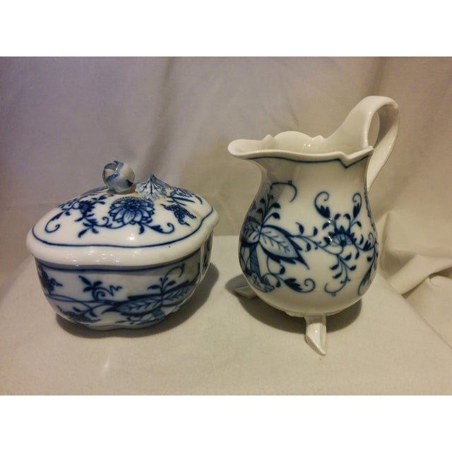 Meissen Blue Onion Cream & Sugar Set - Image 3 of 10