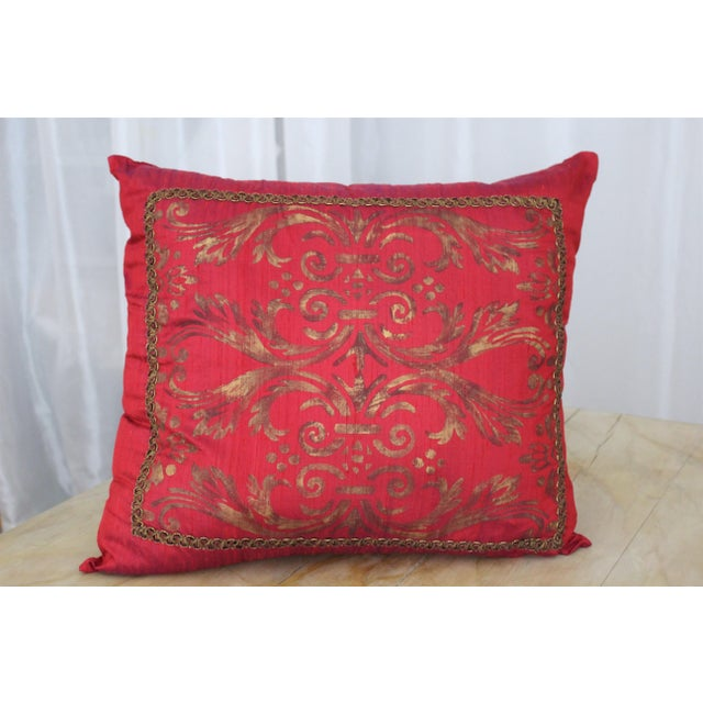 Isabelle H. Fortuny Style Hand-Painted Cherry Pillow Cover - Image 2 of 8