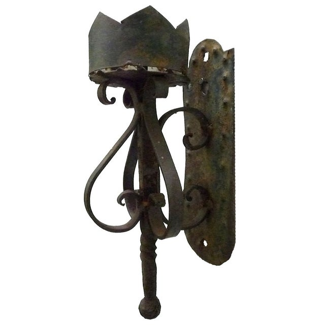 1920s Wrought Iron Torchere - Image 1 of 3