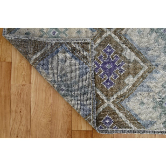 Hand-Knotted Antiqued Turkish Rug - 3′1″ × 5′7″ - Image 9 of 9