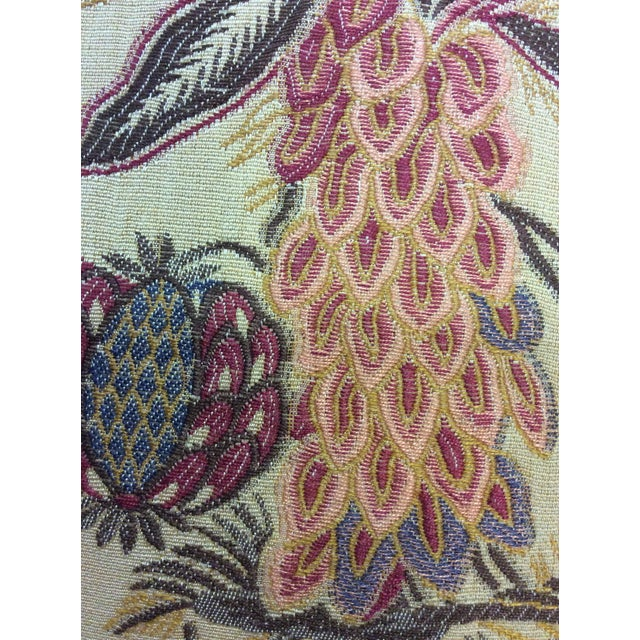 Yellow Floral Design Pillows - Pair - Image 7 of 9