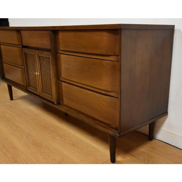 Mid-Century Walnut and Formica Credenza - Image 5 of 11