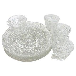 Mid-Century Glass Snack Set - Set of 8