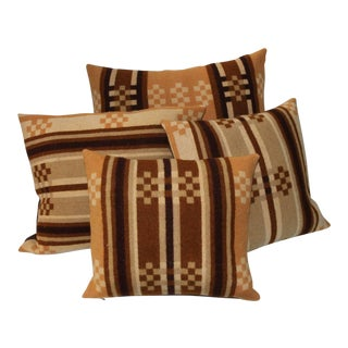 Group of Four Horse Blanket Pillows