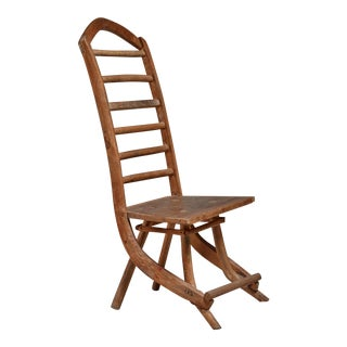 Fernando da Ilha do Ferro craft chair with high back, Brazil