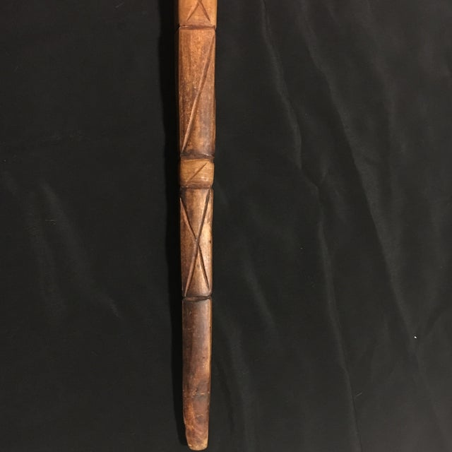 Hand Carved Vintage Walking Stick with Parrot - Image 8 of 9