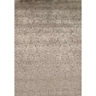 "Pasargad NY Indo Damask Tabriz Silk and Wool Area Rug - 5'5"" x 7'9"""
