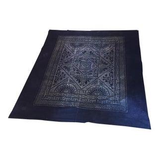 Vintage Chinese Indigo Batik Bedcover Panel