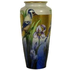 French Blue Jay Vase