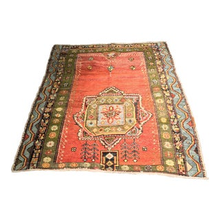 "Bellwether Rugs Vintage Turkish Oushak Small Area Rug - 4'8""x5'1"""