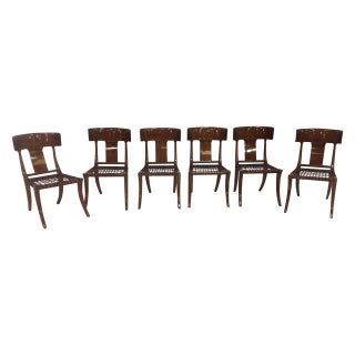 Mid Century Klismos Style Dining Chairs - Set of 6