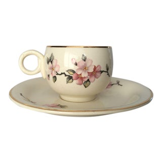 Cottage Style Demitasse Cup and Saucer