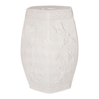 Vintage Blanc de Chine Ceramic Garden Stool