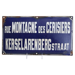 1930s French & Dutch Cherry Street Sign