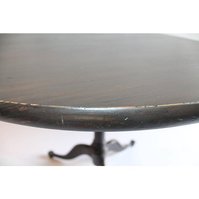 Image of 19th Century Industrial Pedestal Table with Iron Base