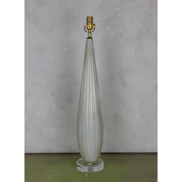 Archimede Seguso Vintage Murano Glass Table Lamp - Image 6 of 7