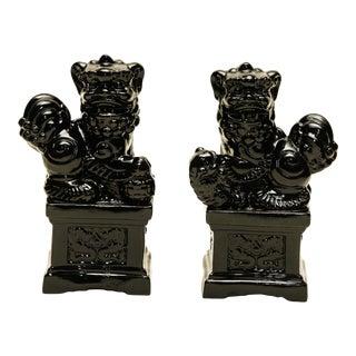 Black Foo Dogs- A Pair
