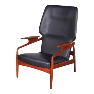 Mid Century Leather Recliner by Kurt Ostervig