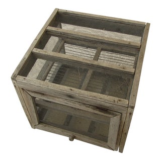 Vintage Rustic Primitive Small Animal Enclosure Cage