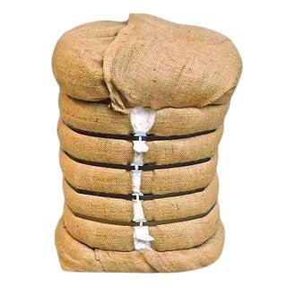 Large Vintage Bale of Cotton Stool