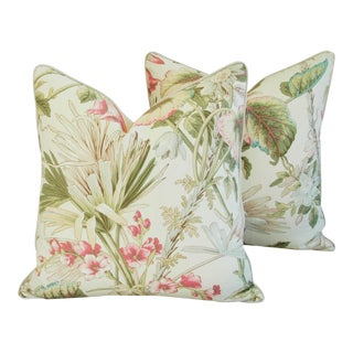 Italian Scalamandre Lowland Floral Pillows - Pair