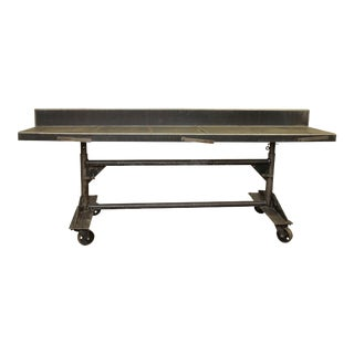 Metal Adjustable Height Rolling Desk