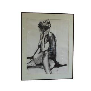 John Corcoran Vintage Nude Drawing