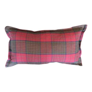 Ralph Lauren Scottish Tartan Plaid Lumbar Pillow