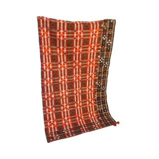 Vintage Wool Blanket Wall Hanging