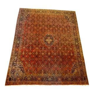 Vintage Persian Sarouk Wool Rug - 9' x 10'