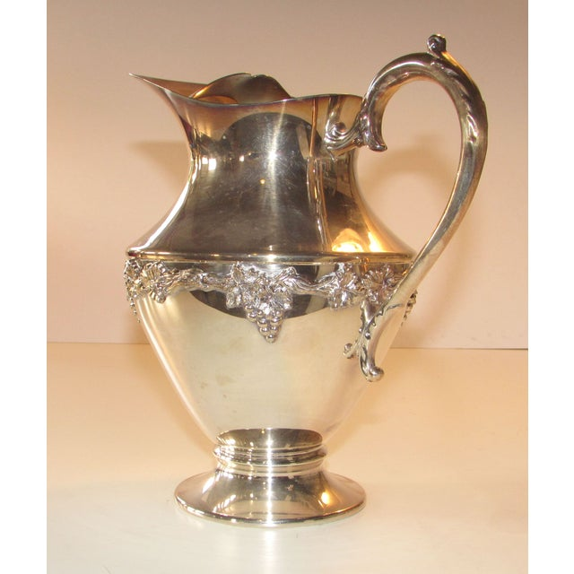 Silver Plated Water Pitcher - Image 2 of 4