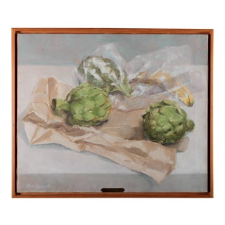 "Pat Ralph ""Still Life With Artichokes"" Oil Painting"
