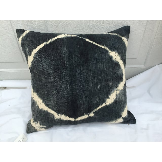African Grey Tie Dye Mud Cloth Pillow - Image 2 of 6