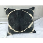 Image of African Grey Tie Dye Mud Cloth Pillow