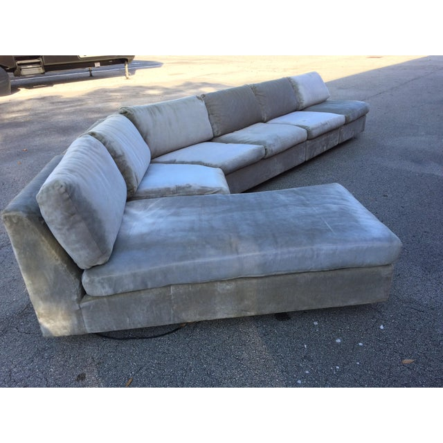 1960s Mid-Century Modern Curved Sectional Sofa Style of Harvey Probber - Image 2 of 11