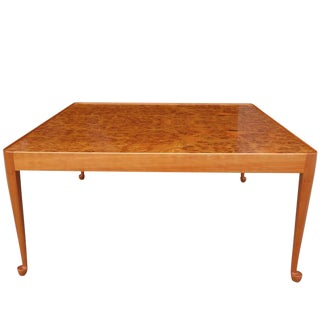 Exceptional Mid-Century Burl Wood Coffee Table by Josef Frank