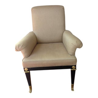 Mastercraft Gold Linen Arm Chair