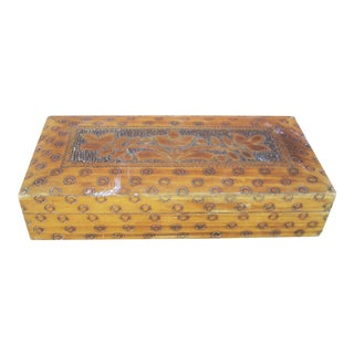 Wood Box With Incised Circles