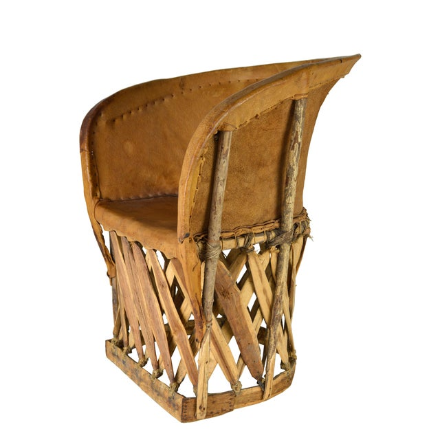 Image of Vintage Rustic Leather Chairs - S/2